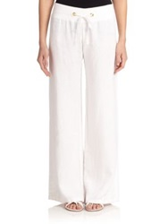 Lilly Pulitzer Linen Beach Pants Resort White