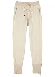 Blood Brother Issue Cotton Blend Jogging Trousers Beige