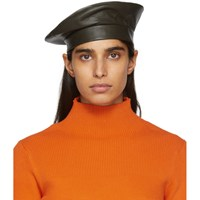 Etudes Studio Green Clyde Edition Leather Beret