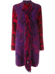Etro Fringed Blanket Coat Multicolour