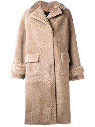 Blancha Oversized Coat Nude And Neutrals
