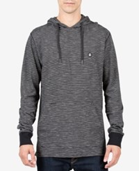 Volcom Men's Striped Cotton Hoodie Black