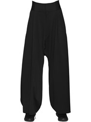 Y 3 Superfine Cotton Jersey Wide Pants