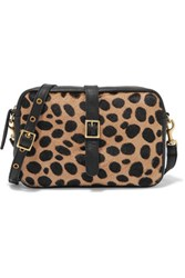 Clare V. V Mini Sac Leopard Print Calf Hair And Leather Shoulder Bag Leopard Print