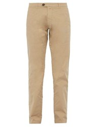 J.W. Brine James Cotton Blend Chino Trousers Beige