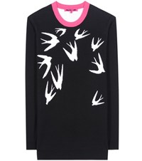 Mcq By Alexander Mcqueen Printed Wool Sweater Black