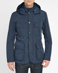 Barbour Navy Thurso Nylon Dress Tartan Parka