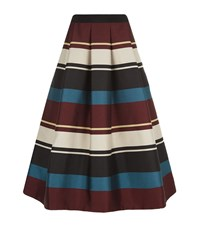 Ted Baker Majida Striped Midi Skirt Female Black