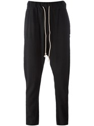 Poeme Bohemien Drawstring Drop Crotch Sweatpants Black