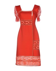 Sonia Fortuna Knee Length Dresses Red
