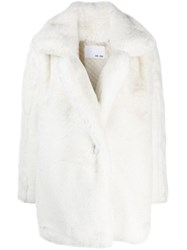Each X Other Oversized Vegan Coat White