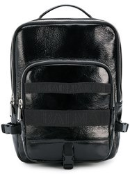Balmain One Strap Backpack Black