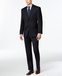 Calvin Klein Solid Navy Slim Fit Suit