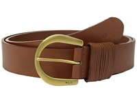 Lauren Ralph Lauren 1 1 2 London Wire Buckle On Veg Leather With Multi Strand Keeper Cuoio Women's Belts Brown