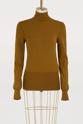 Jacquemus Baya Cotton Turtleneck Sweater Kaki