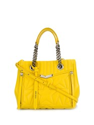 Jimmy Choo Small Shopper Tote Yellow