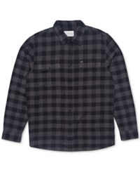 Rip Curl Men's Kingsford Flannel Check Shirt Charcoal