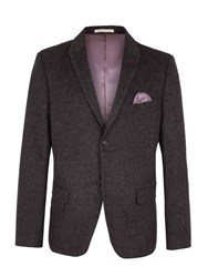 Racing Green Men's Hamilton Semi Plain Blazer Charcoal