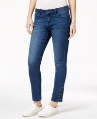 Earl Jeans Lace Up Hem Skinny Medium