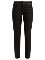 Saint Laurent Black Leather Trousers Black
