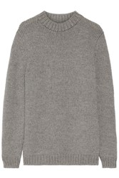 The Elder Statesman Call Her Alpaca Sweater Gray