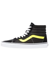Vans Sk8 Reissue Hightop Trainers Black Neon Yellow