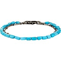 Suzanne Felsen Men's Double Band Bracelet Turquoise