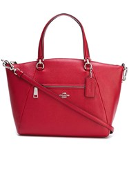 Coach Removable Strap Medium Tote Red