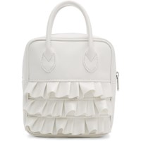 Comme Des Garcons Girl White Ruffled Duffle Bag