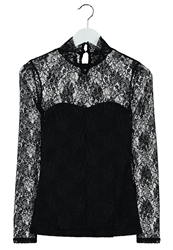 Morgan Talace Long Sleeved Top Noir Black