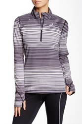 Asics Striped Pullover Black