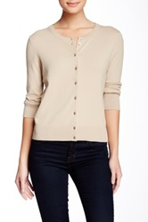 Cable And Gauge Jackie O Cardigan Beige
