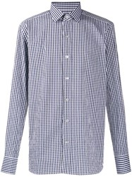 Tom Ford Check Slim Fit Shirt Blue