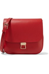Theory Perry Leather Shoulder Bag Red