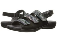 Trotters Kendra Black Black Multi Women's Sandals