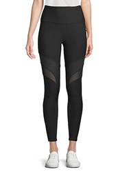X By Gottex Mesh Accented Performance Leggings Black