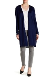 Joseph A Pointelle Back Duster Cardi Blue