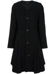Comme Des Garcons Vintage Collarless Flare Coat Black