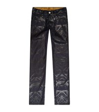 Billionaire Urban Fit Printed Roots Jeans Male Midnight