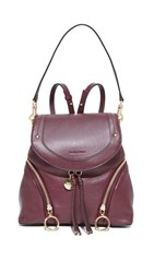 See By Chloe Olga Convertible Backpack Grenat