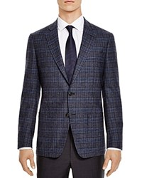 The Men's Store At Bloomingdale's Grey Blue Check Slim Fit Sport Coat