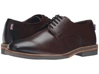 Ben Sherman Julian Plain Toe Burgundy Men's Lace Up Casual Shoes
