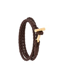 Tom Ford Braided Bracelet Brown