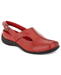 Easy Street Shoes Easy Street Sportster Comfort Clogs Women's Shoes Red