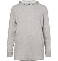 Athletic Propulsion Labs Melange Loopback Cotton Jersey Hoodie Light Gray