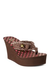 Groove Sassy Wedge Sandal Brown