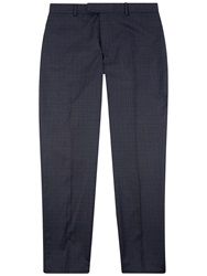 Jaeger Wool Faded Check Suit Trousers Navy