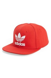 Adidas Men's Trefoil Chain Snapback Baseball Cap Red Medium Red