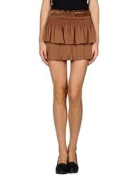 Pinko Black Mini Skirts Brown