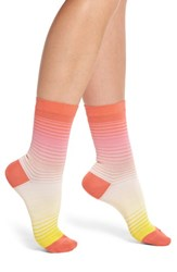 Paul Smith Emma Gradient Crew Socks Pink